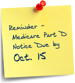 Medicare Part D Deadline Oct. 15